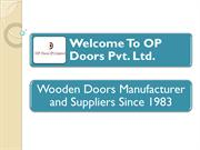 Wooden Door Suppliers Faridabad - OP Doors