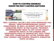 How To Control Bedbugs - Know The Pest Control Methods