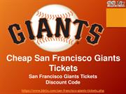 San Francisco Giants Tickets 2018