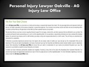Oakville Injury Lawyer