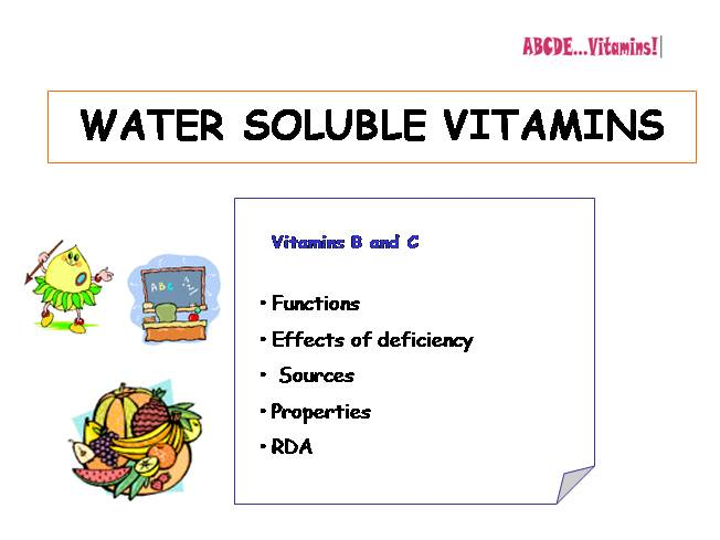 water-soluble vitamins |authorstream, Human Body