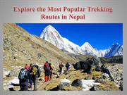 Explore the Most Popular Trekking Routes in Nepal