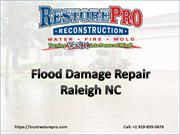 Flood Damage Repair Raleigh North Carolina