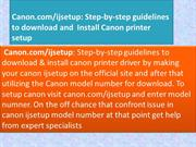 Get Download Canon ijsetup with model number at canon.com/ijsetup