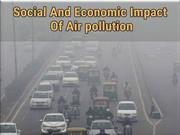 Social And Economic Impact Of Air pollution
