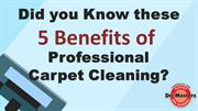 5 Benefits of Professional Carpet Cleaning