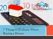 7 Things to Evaluate When Buying a House