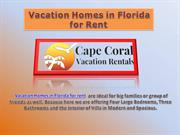 Vacation Homes in Florida for Rent