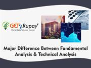Major Difference Between Fundamental Analysis and Technical Analysis