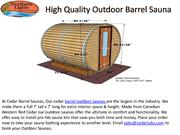 High Quality Outdoor Barrel Sauna