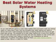 Best Solar Water Heating Systems