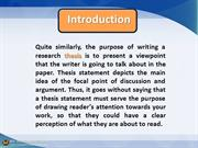 10 Constructive Ideas for Developing the Research Thesis ppt