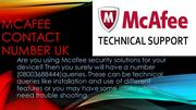 Mcafee contact number uk
