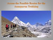 Access the Possible Routes for the Annapurna Trekking