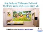 Buy Designer Wallpapers Online & Children's Bedroom Accessories in UK