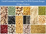 Carnil Commodities Leverages You With Dynamic Ranges Of Agro-Products