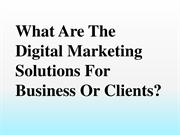 What are the digital marketing solutions for business or clients?