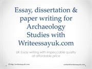 Archaeology Studies Writing support