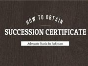 Legal Way Of Succession Certificate In Pakistan For Pension