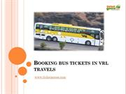 Booking bus tickets in vrl travels