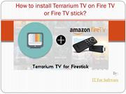 How to install Terrarium TV on Fire TV