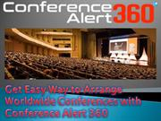 Get Easy Way to Arrange Worldwide Conferences with Conference Alert 36