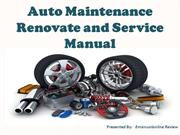 Auto Maintenance Renovate and Service Manual - Emanualonline Review
