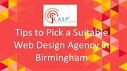 Tips to pick a suitable web design agency in Birmingham