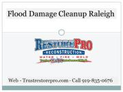 Flood Damage Cleanup Raleigh North Carolina