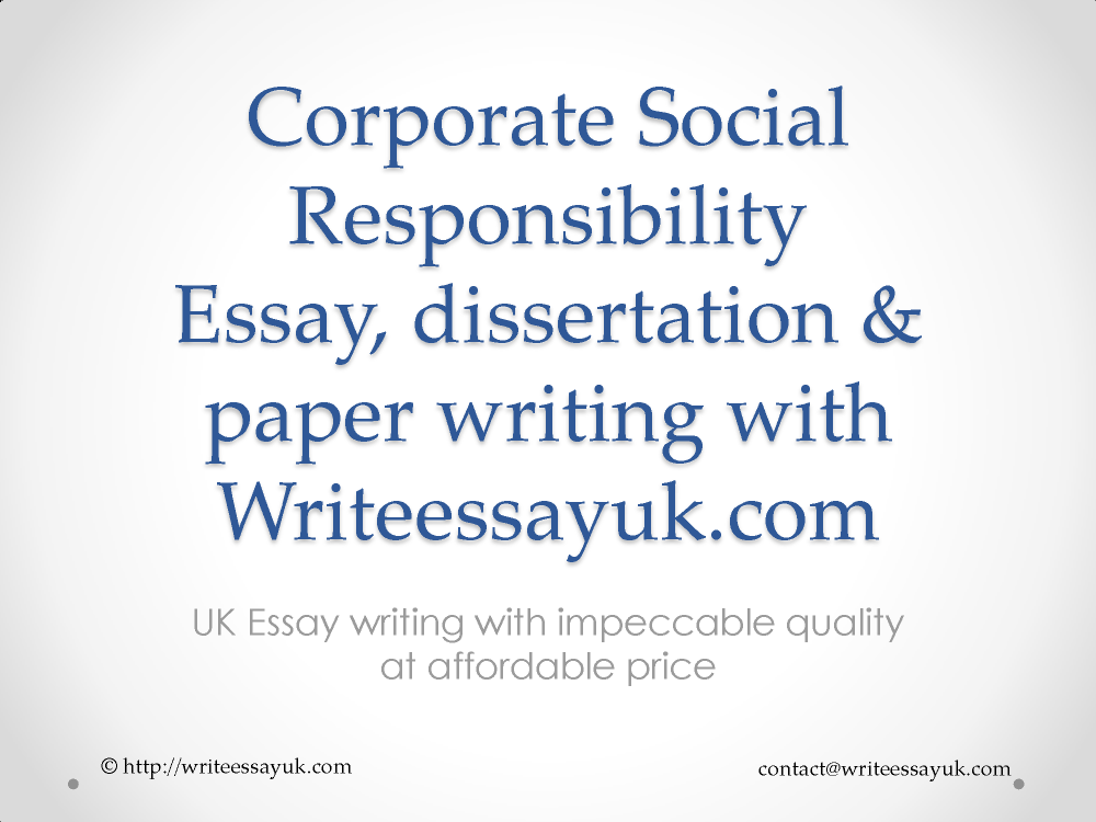 corporate social responsibility report writing services authorstream corporate social responsibility report writing services