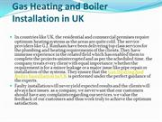Gas Heating and Boiler Installation in UK
