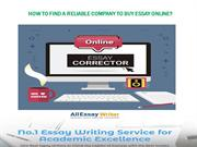 How to Find a Reliable Company to Buy Essay Online?