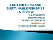 ECO LABELLING AND SUSTAINABLE FISHIRIES