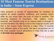 10 Most Famous Tourist Destinations in India – State Express