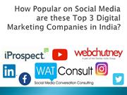How Popular on Social Media are these Top Digital Marketing Companies