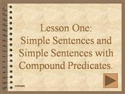 SIMPLE SENTENCE AND SIMPLE SENTENCE WITH