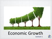 Economic Growth Lecture 2018 (recorded lecture 1a)