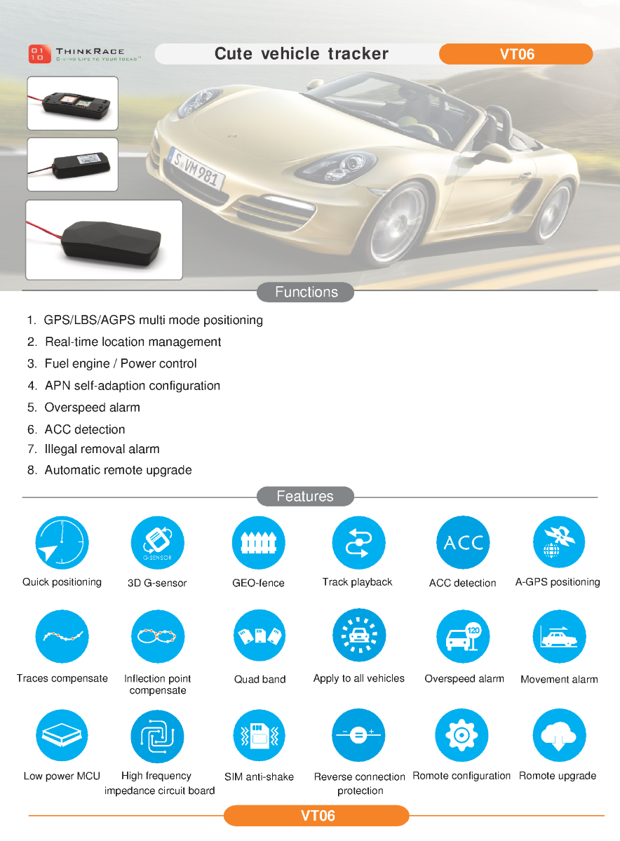 Is It Illegal To Remove Gps Tracking Device On Car >> Cheap Vehicle Gps Tracker Vt06 Thinkrace Authorstream