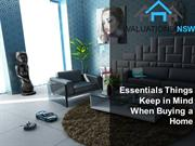 Essentials Things Keep in Mind When Buying a Home