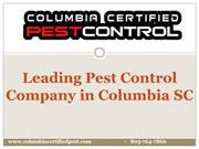 Leading Pest Control Company in Columbia SC