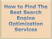 How to Find The Best Search Engine Optimization Services