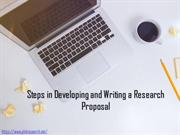Steps in Developing and Writing a Research Proposal