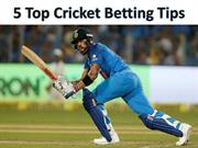 Top 5 Cricket Betting Tips to Increase Your Profit