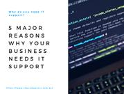 Why Do You Need IT Support 5 Reasons Why Your Business Needs IT Suppor