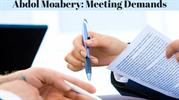 Abdol Moabery_ Meeting Demands