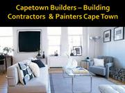 Building contractors cape town & Painters cape town