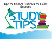 Tips for School Students for Exam Success