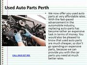 Buy Used Auto Parts Perth
