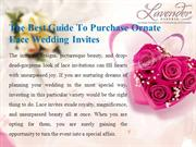 The Best Guide To Purchase Ornate Lace Wedding Invites