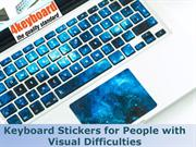 Keyboard Stickers for People with Visual Difficulties